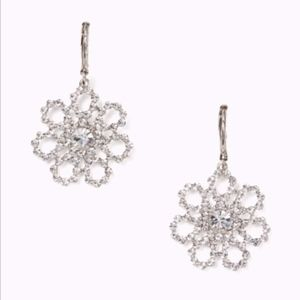 NWT~KATE SPADE~GORG! Crystal Lace Drop Earrings